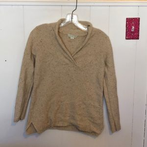 Tan speckled sweater